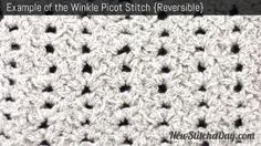 Example of the Winkle Picot Stitch. (Reversible)