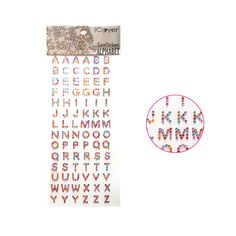 Gem stickers Alphabet, Rhinestones Adhesive letters Stickers-5sheets #iCover