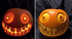 A cheerful carving a pumpkin on Halloween Halloween Outfits, Holidays Halloween, Spooky Halloween, Halloween Pumpkins, Halloween Crafts, Holiday Crafts, Holiday Fun, Halloween Decorations, Funny Pumpkins