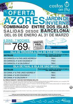 """Azores """"combinado"""" desde Barcelona. Salidas de Enero a Marzo. ultimo minuto - http://zocotours.com/azores-combinado-desde-barcelona-salidas-de-enero-a-marzo-ultimo-minuto/"""