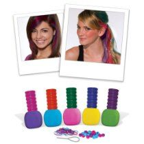 11699 Experiment with the latest trend of hair chalking using the new Color Rox Hair Chox kit from Fashion Angels Enterprises. This kit includes 5 cool colors of chalk in easy to grip holders so your hands don't get messy. Simply wet your hair and streak it with whatever color you want. Dye just the tips of your hair in a rainbow of colors or create ultra-bold streaks. Don't worry - the color will wash out with the next shampoo! Features: -Includes 5 hair An Amazan Fashion Store