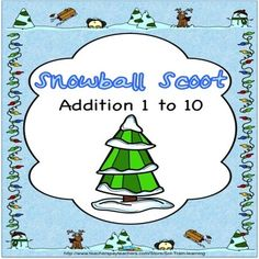 "Snowball Scoot is a fun and exciting game by SOL Train Learning that gets all of your students moving. It can be used as a preview to see what your students already know, as a review or as an assessment after teaching addition facts to 10. Includes: Directions to ""Scoot"" 24 task cards and 4 Take a Break Cards if you have more than 24 students A recording sheet Answer Key Snowball manipulatives $  #SOL Train learning#math#TPT"