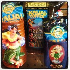Check out some of the old Kauai Coffee products in our musuem -- they're no longer for sale, but they're so cool! Kauai Coffee, Hawaiian Coffee, Coffee Products, Coffee Company, Root Beer, Old Things, Mugs, Cool Stuff, Check