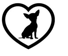 CHIHUAHUA HEART Vinyl Decal Stikcer Dog Breed Puppy Choose Color FREE Shipping