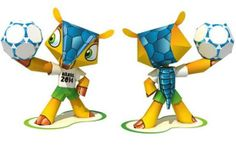 Fuleco The Armadillo - Brazillain World Cup`s Mascot Paper Toy - by Paper Replika  - == -  This cool paper toy version of Fuleco, the Brazilian Mascot of the 2014`s Fifa World Cup, was created by Indonesian designer Julius Perdana, from Paper Replika website.