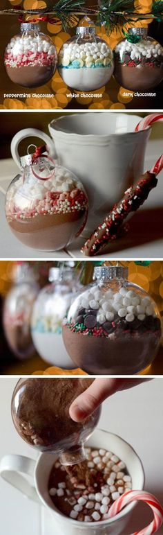 Hot Cocoa Mix Ornaments Click Pic for 21 DIY Christmas Gift Ideas for Best Friend Handmade Christmas Gift Ideas for Men Easy Diy Christmas Gifts, Noel Christmas, Homemade Christmas, Christmas Treats, Xmas Gifts, Holiday Crafts, Christmas Decorations, Christmas Ornaments, Christmas Cards
