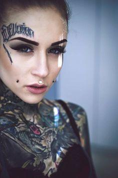 My Favorite Ink: Monami Frost Monami Frost, Hot Tattoos, Girl Tattoos, Tattoos For Women, Tattoo Girls, Tattooed Women, Tatoos, Face Tattoos, Tattoo Passion