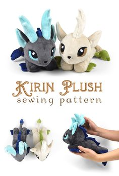 New Shop Pattern! Kirin Plush | Choly Knight Sewing Crafts, Sewing Toys, Sewing Tutorials, Sewing Hacks, Fabric Crafts, Sewing Projects, Legendary Creature, Plushie Patterns, Knitting Patterns