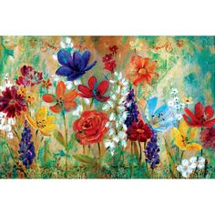 Found it at Joss & Main - Wildflower Fresco I by E. Franklin Painting Print on Wrapped Canvas