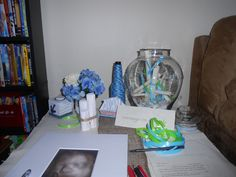 Message in a bottle... Guest sign in picture frame of baby ultrasound