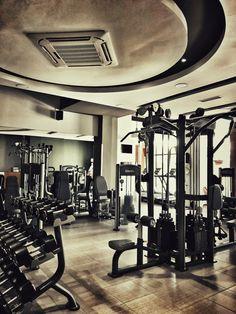 Strength Room Gym Decor, Gym Design, Decoration, Health Fitness, Receptionist Design, Patio, Living Room, Strength, Places