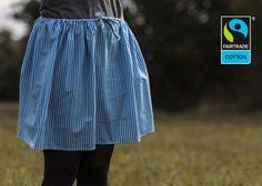 Röcke - Fairtrade Rock Aquastripes (blau weiß gestreift) - ein Designerstück von FairTale bei DaWanda