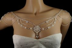 White patina Swarovski crystal pearl beaded от originalbeading