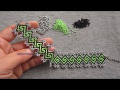 Patterned Bracelet Making Bead Embroidery Tutorial, Bead Embroidery Patterns, Bead Embroidery Jewelry, Beading Patterns, Beaded Braclets, Beaded Bracelets Tutorial, Beaded Necklace Patterns, Beaded Jewelry Designs, Seed Bead Tutorials