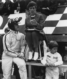 Two World Champions and her Queen - Graham, Bette, and Damon Hill