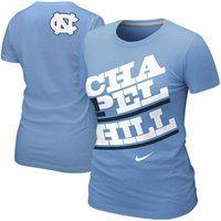 Nike North Carolina Tar Heels #UNC Ladies Chapel Hill T-Shirt