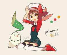 Pokemon Fan Art, Pokemon Oc, Pokemon People, Pokemon Stuff, Female Pokemon Trainers, Manga, Pokemon Heart Gold, Pokemon Collection, Dibujo