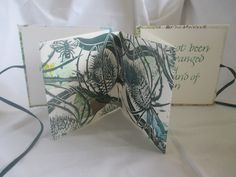 Teasel Book by Caroline Barker from the Present Maker exhibition at Harbour House, December 2017