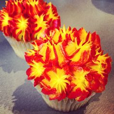 #fire #flame #cupcakes