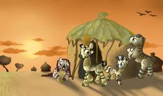 Back in my Homeland - Zecora as a filly with her mom, dad, and sister