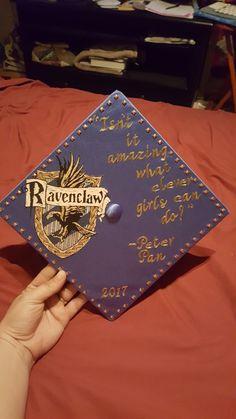 Harry Potter Graduation Cap #Ravenclaw #HarryPotter #Graduationcap #PeterPanQuote