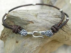Sterling Silver and Leather The Little Flower by TANGRA2009, $29.00