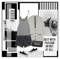 """""""Untitled #2058"""" by liliblue ❤ liked on Polyvore featuring Forum, Duffy, Enza Costa, H&M, Coach and Converse"""