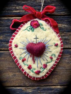 Sacred Heart... Needle Felted & Hand by MarysStudioAndWhimsy