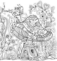 Fairy Land Coloring Book : Kraina basni