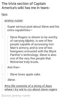Cap Trivia.  This level of combined awesome and adorable is seriously nuclear.