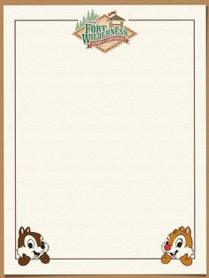 Journal Card - Fort Wilderness - lines - photo by pixiesprite Scrapbook Journal, Journal Cards, Scrapbook Layouts, Disney Crafts, Disney Love, Autograph Book Disney, Disney Printables, Project Life Cards, Writing Paper