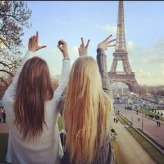 This is the first book cover. There you see Essie, the brunette on the left, and Kiki, the blonde next to her. They're in Paris, if not obvious. It's the story of how they met. The story of their friendship.