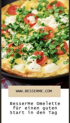 Der Geschmack ist ausserordentlich, es ist sehr sättigend, egal ob ihr es zu Frühstück, Mittag oder Abendessen verspeist. Wisst ihr was wir meinen? Natürlich, das Omelette! Omelette, Vegetable Pizza, Vegetables, Food, Browning, Popular Recipes, Don't Care, Meal, Food Dinners