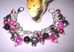 Leopard Charm Bracelet Leopard Bracelet Wild Jungle Cat by Jynxx
