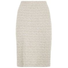 St. John Tweed Pencil Skirt ($680) ❤ liked on Polyvore featuring skirts, bottoms, sparkle skirts, white skirt, preppy skirts, st. john and formal skirts
