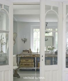 Gorgeous doors and windows!  ♥ -- My French Country Home, French Living - Sharon Santoni