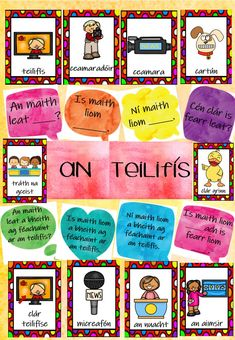 Bundle containing all the posters you need to teach the theme of An Teilifís. Classroom Rules, Classroom Decor, Poetry Anthology, Irish Language, Job Chart, Irish Quotes, Curriculum, Encouragement, Clip Art