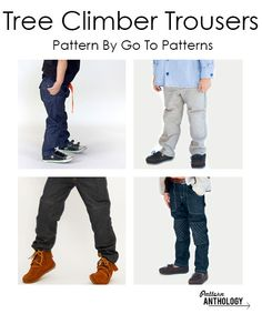 Tree Climber Trousers PDF Sewing Pattern by GoTo Patterns for Pattern Anthology