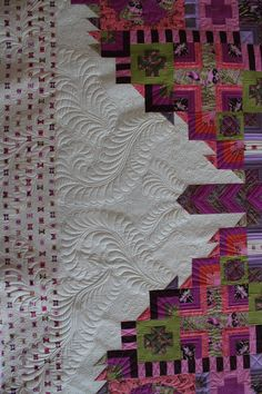 ❤ =^..^= ❤  Angela Walters' fabulous quilting on Tula Pink's Butterfly quilt!!!!!