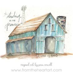 "Barn ""Standing on The Promises"" – From the Heart Art White Tea Towels, Barn Art, Ceramic Mugs, Watercolor Paintings, Art Paintings, Framed Art Prints, White Ceramics, Canvas Art, Canvas Wall Decor"