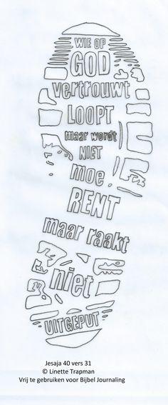 Jesaja 40 vers 31. © Linette Trapman. Vrij te gebruiken voor Bijbel Journaling