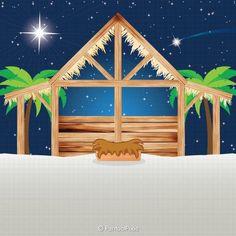Christmas Town, Magical Christmas, Christmas Nativity, Christmas Clipart, Felt Christmas, Christmas Crafts, Christmas Decorations, Nativity Clipart, Nativity Stable