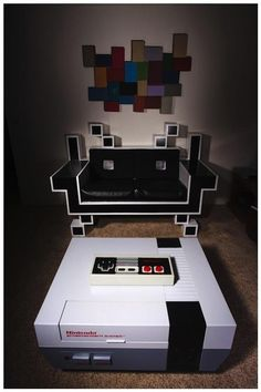 Space Invaders Couch & NES Coffee Table!