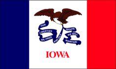 Iowa 3x5 State Flag - I AmEricas Flags