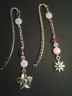Tibetan silver flower bookmarks - joyfulkreations on ebay