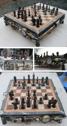 Steampunk Chess Set
