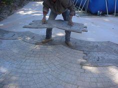 béton imprimé,béton coloré,produits béton,beton décoratif