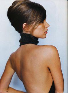 Harper's Bazaar October 1995 Pin up Girl Photographer: Mario Testino Model: Kate Moss