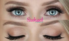Natural eyes, mink lashes. Sunkissed & Made Up