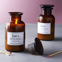 Love Is Prosecco And Pomelo Soy Wax Candle by Alchemy & Thistle